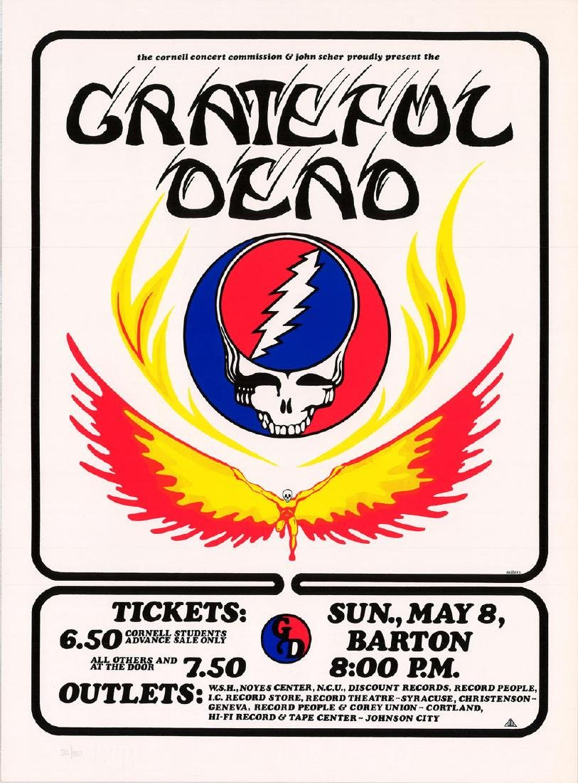 Gorgeous 1977 Grateful Dead Barton Hall Poster