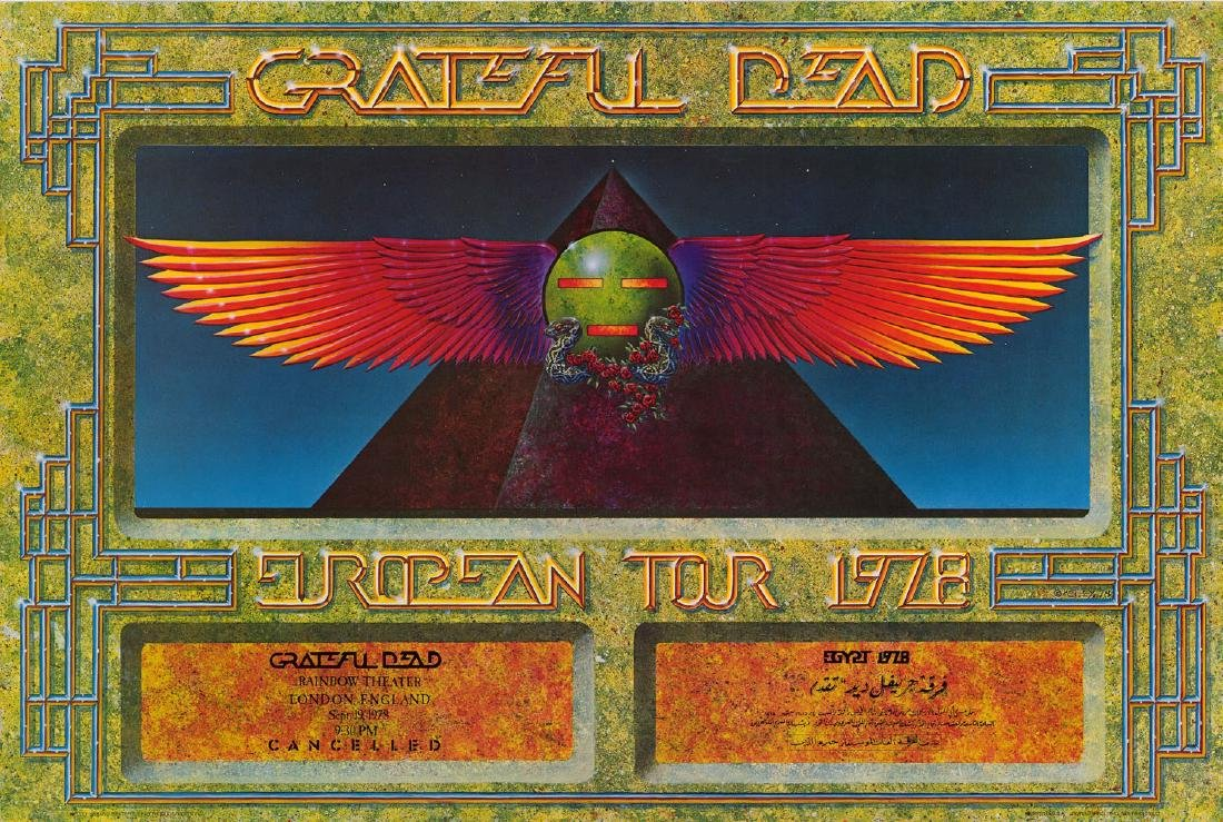 1978 Grateful Dead Rainbow Theater Poster