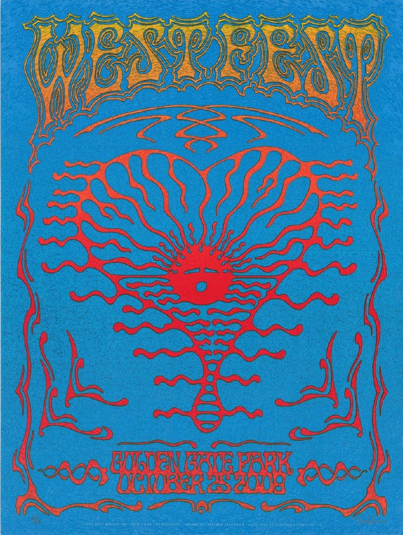 Rare 2009 WestFest poster by Dave Hunter