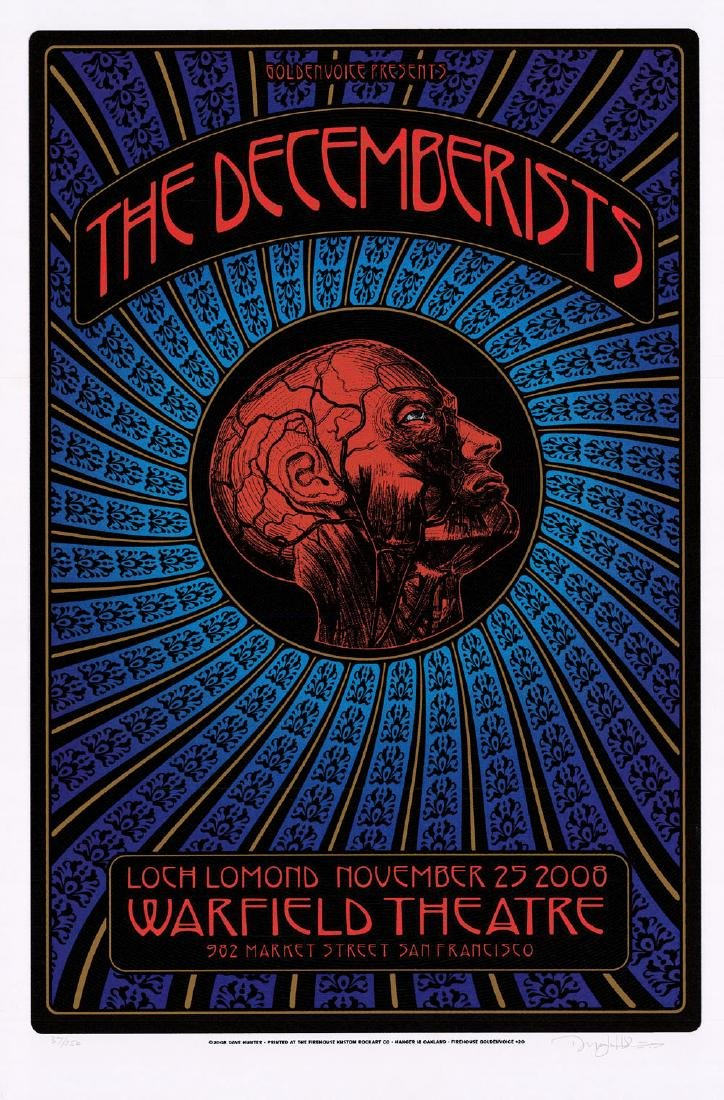 Gorgeous 2008 Decemberists Poster by Dave Hunter