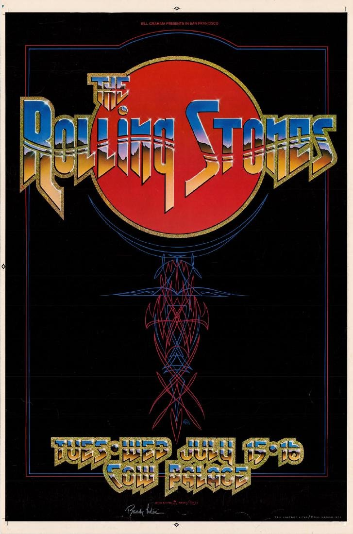 Attractive 1975 Rolling Stones Poster