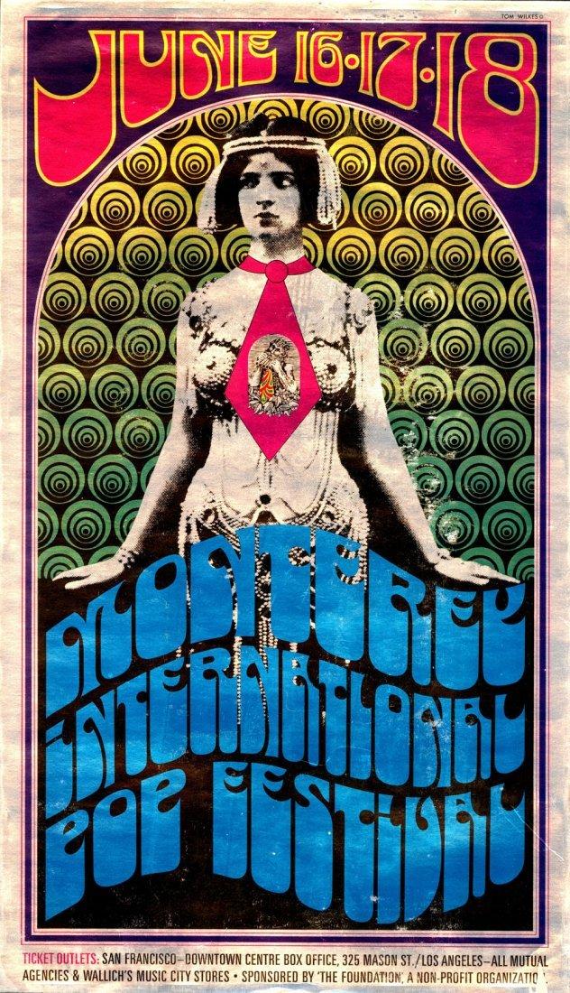 Rare 1967 Monterey Pop Festival Poster