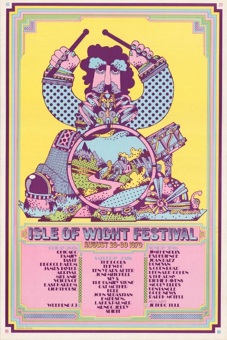 Rare 1970 Isle of Wight Festival Poster