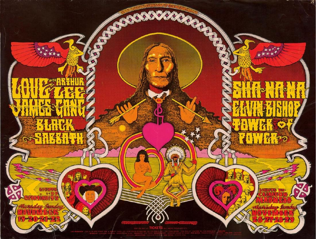 Attractive Bill Graham Poster Featuring The James Gang