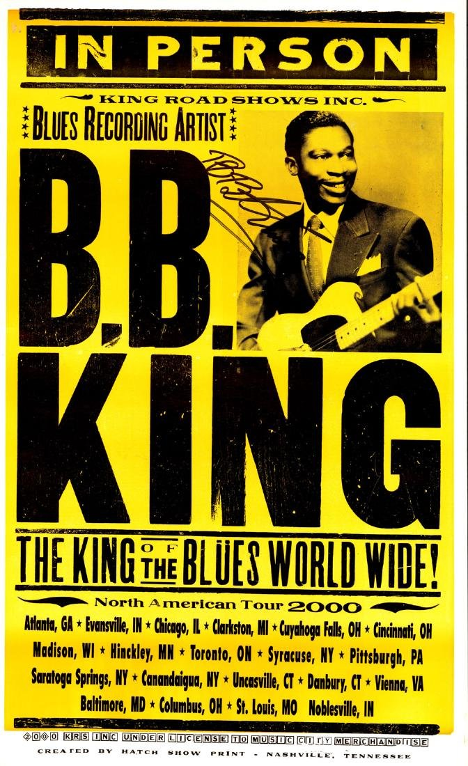 B.B. King Signed 2000 North American Tour Poster