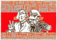 Rare 1969 Anti War Poster