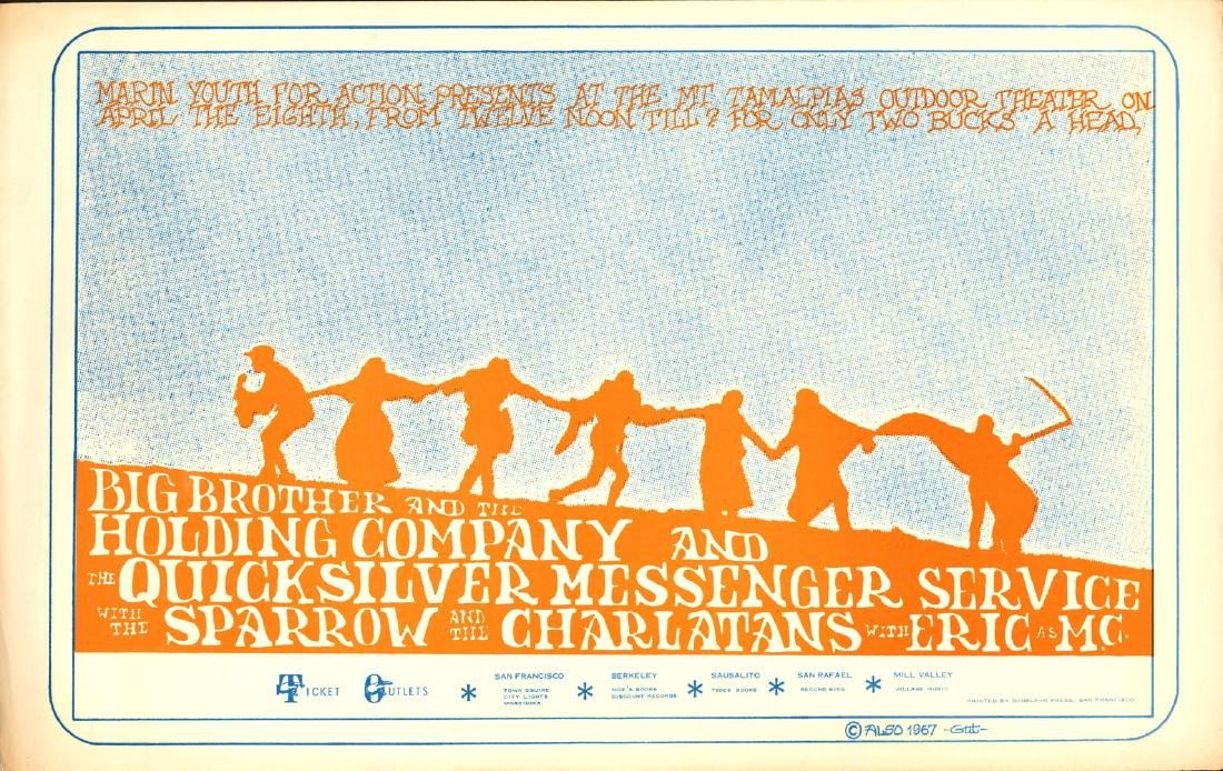 Rare 1967 Marin County Poster