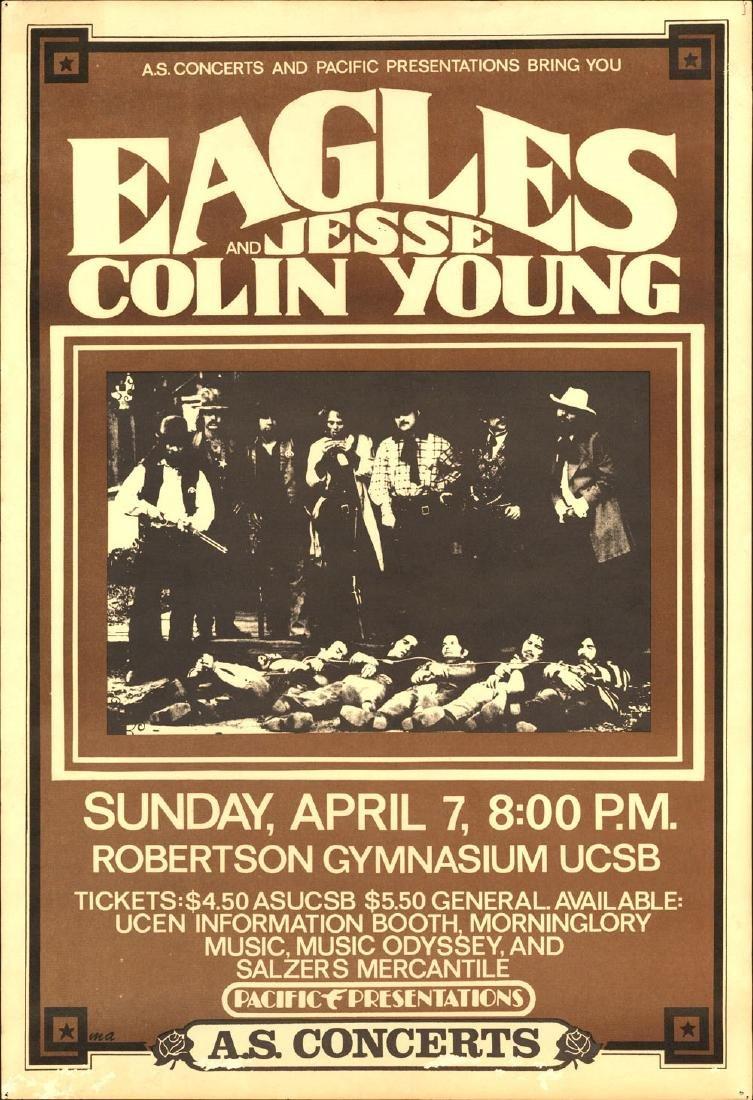 Rare 1974 Eagles Poster from Santa Barbara