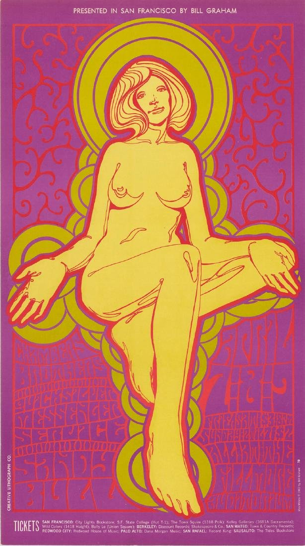 1967 Bill Graham Fillmore Auditorium Poster