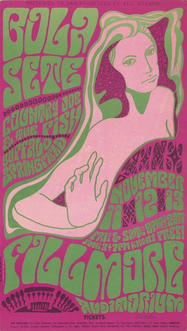Rare Signed 1966 Buffalo Springfield Poster