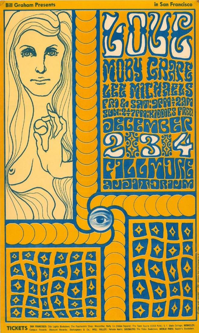 Very Rare 1966 Bill Graham Fillmore Poster