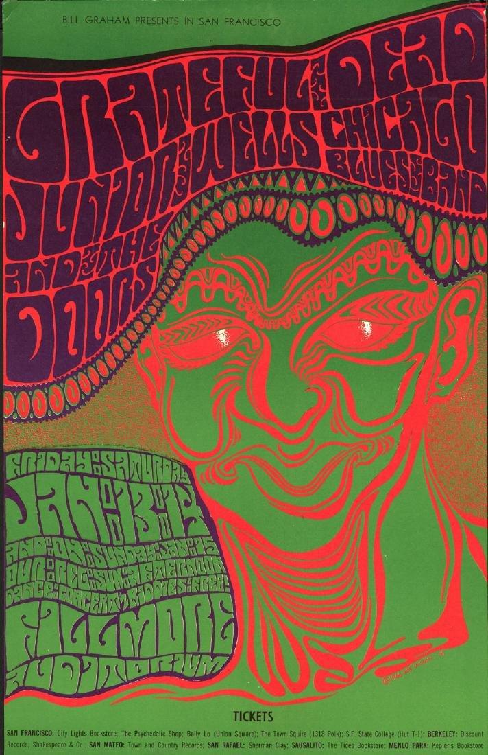 Scarce 1966 BG-45 Grateful Dead Poster