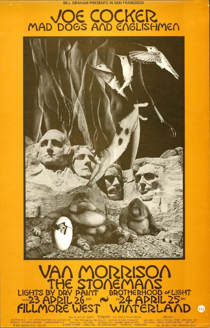 Joe Cocker and Van Morrison Fillmore Poster