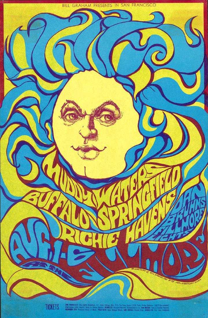 Beautiful Buffalo Springfield Poster from 1967