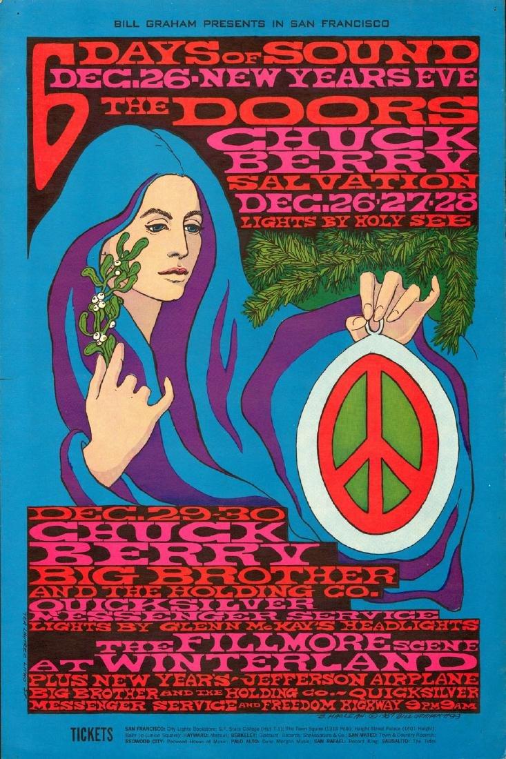 Rare 1967 Doors New Years Poster