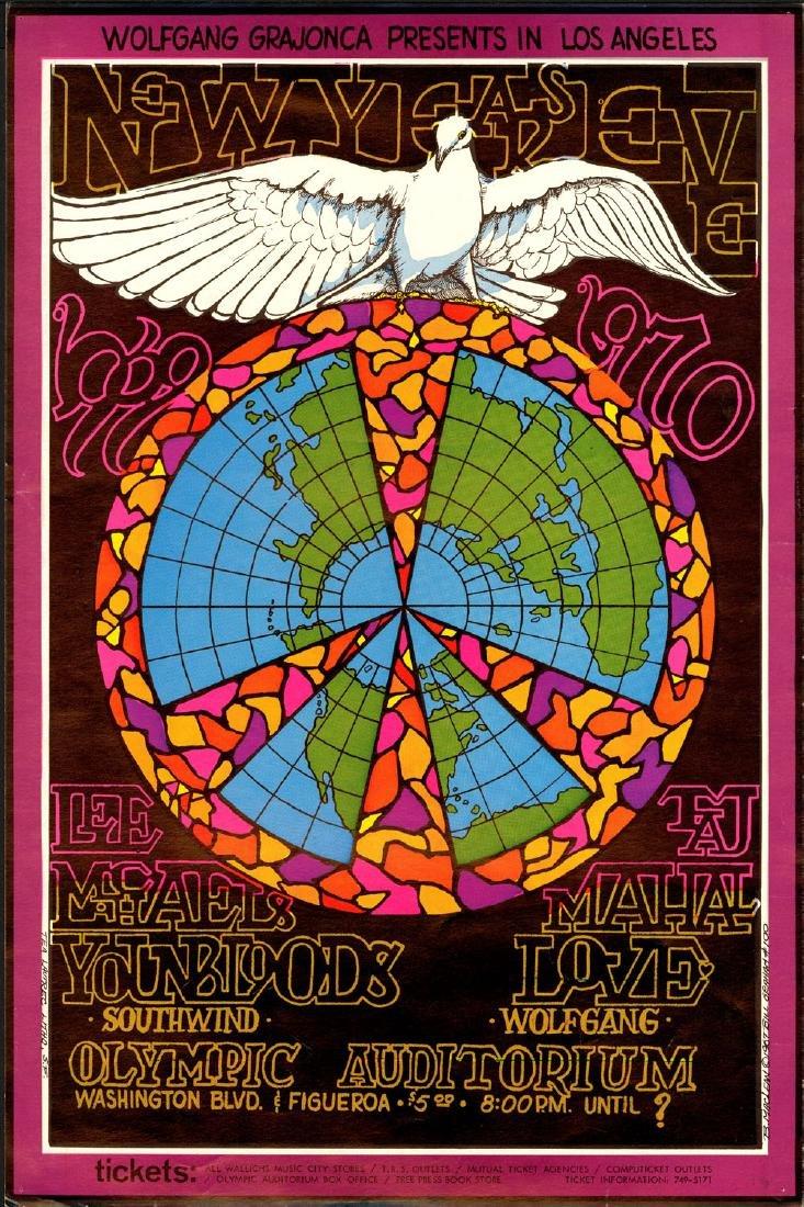 Rare 1969 Bill Graham New Years Poster