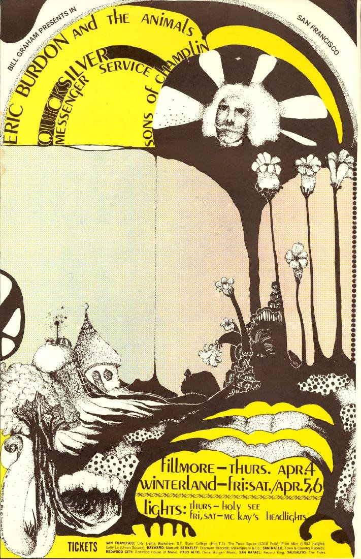 Scarce BG-114 Eric Burdon & the Animals Poster