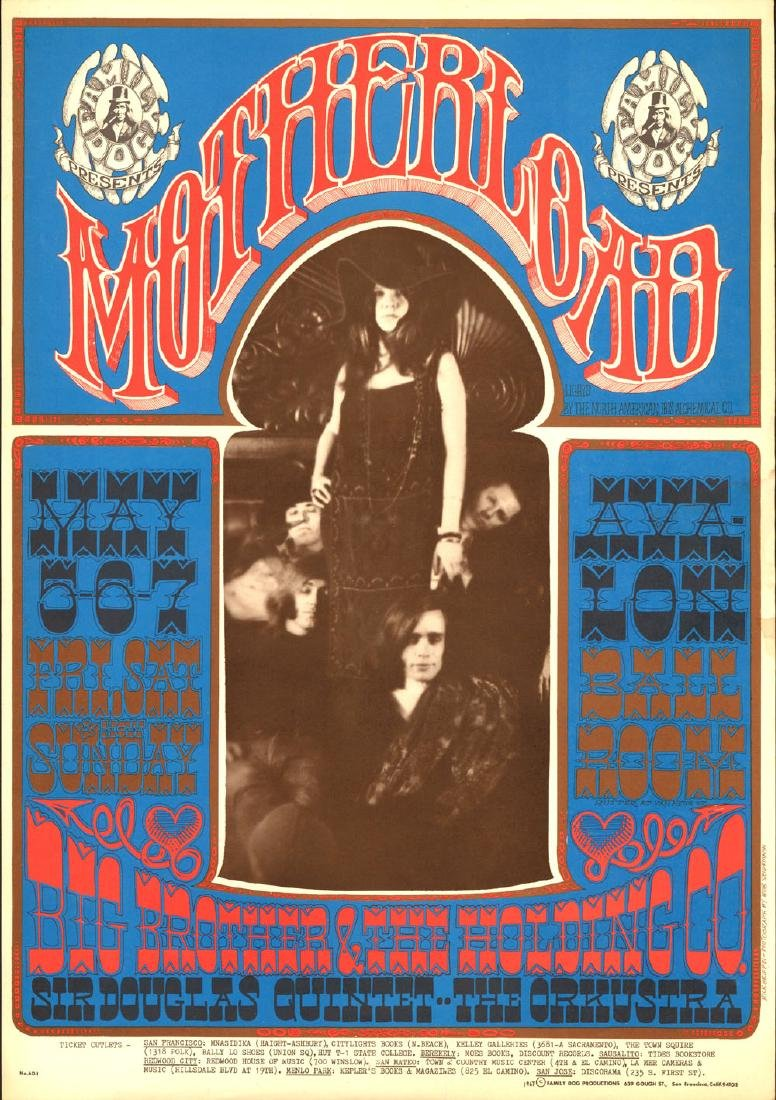 Rare FD-60 Janis Joplin Poster