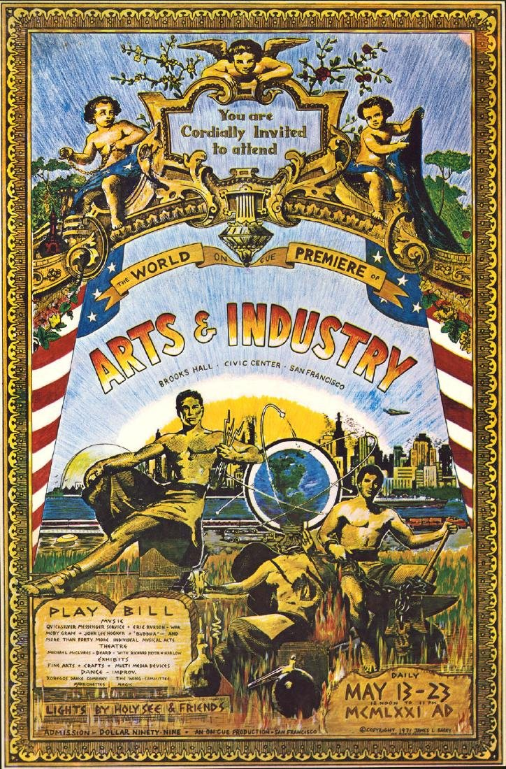Scarce 1971 Arts & Industry Poster