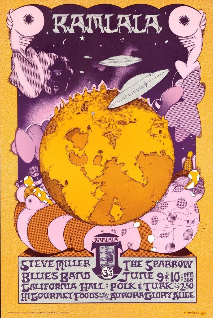 Scarce Steve Miller California Hall Poster