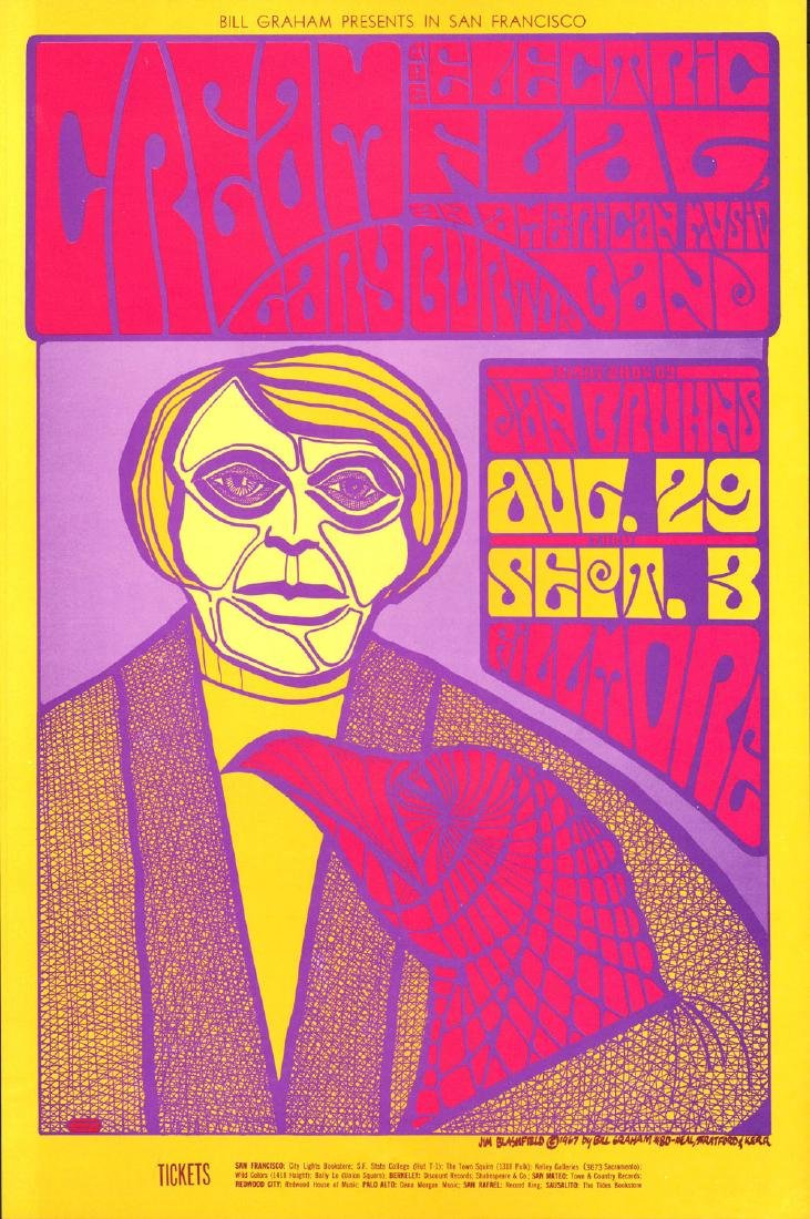Cool 1967 Fillmore Poster Featuring Cream