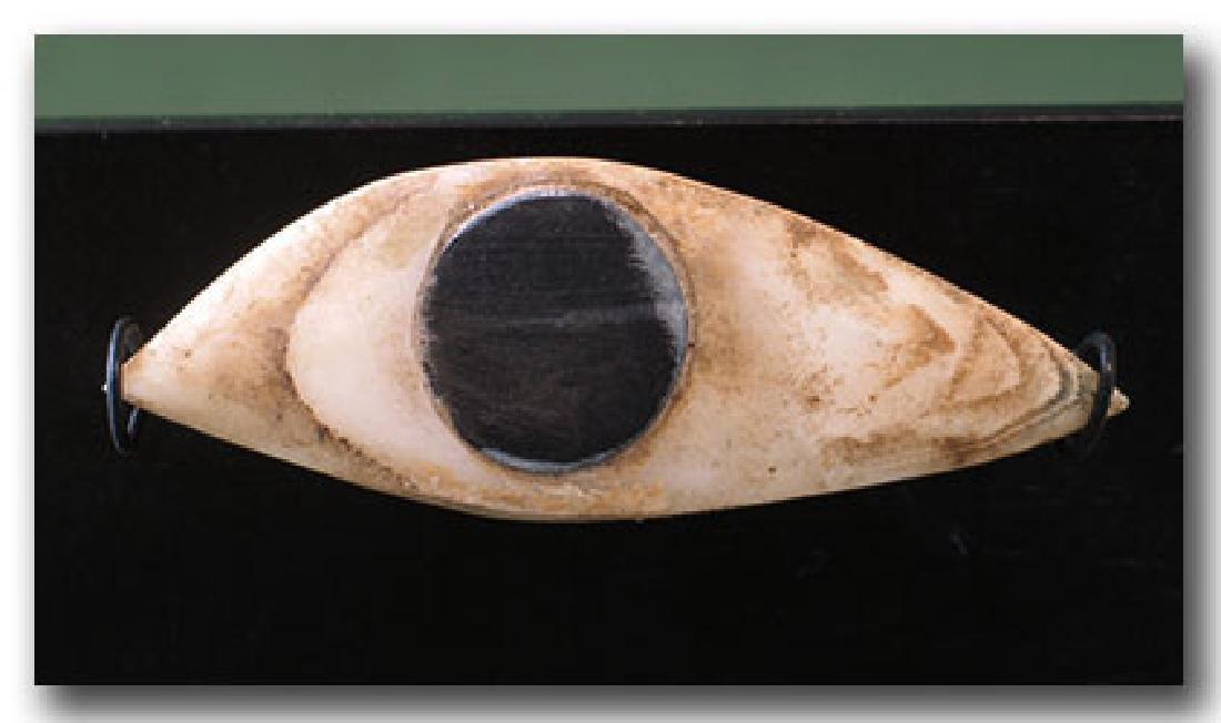 Large Egyptian Steatite Eye Inlay, c. 500 B.C.