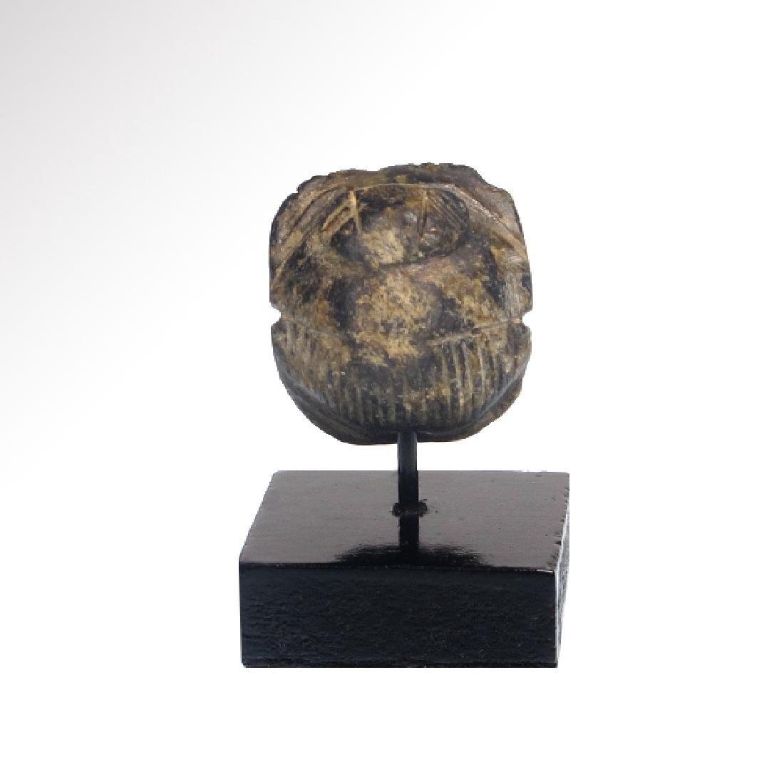 Egyptian Steatite Heart Scarab, c. 600 B.C. - 2