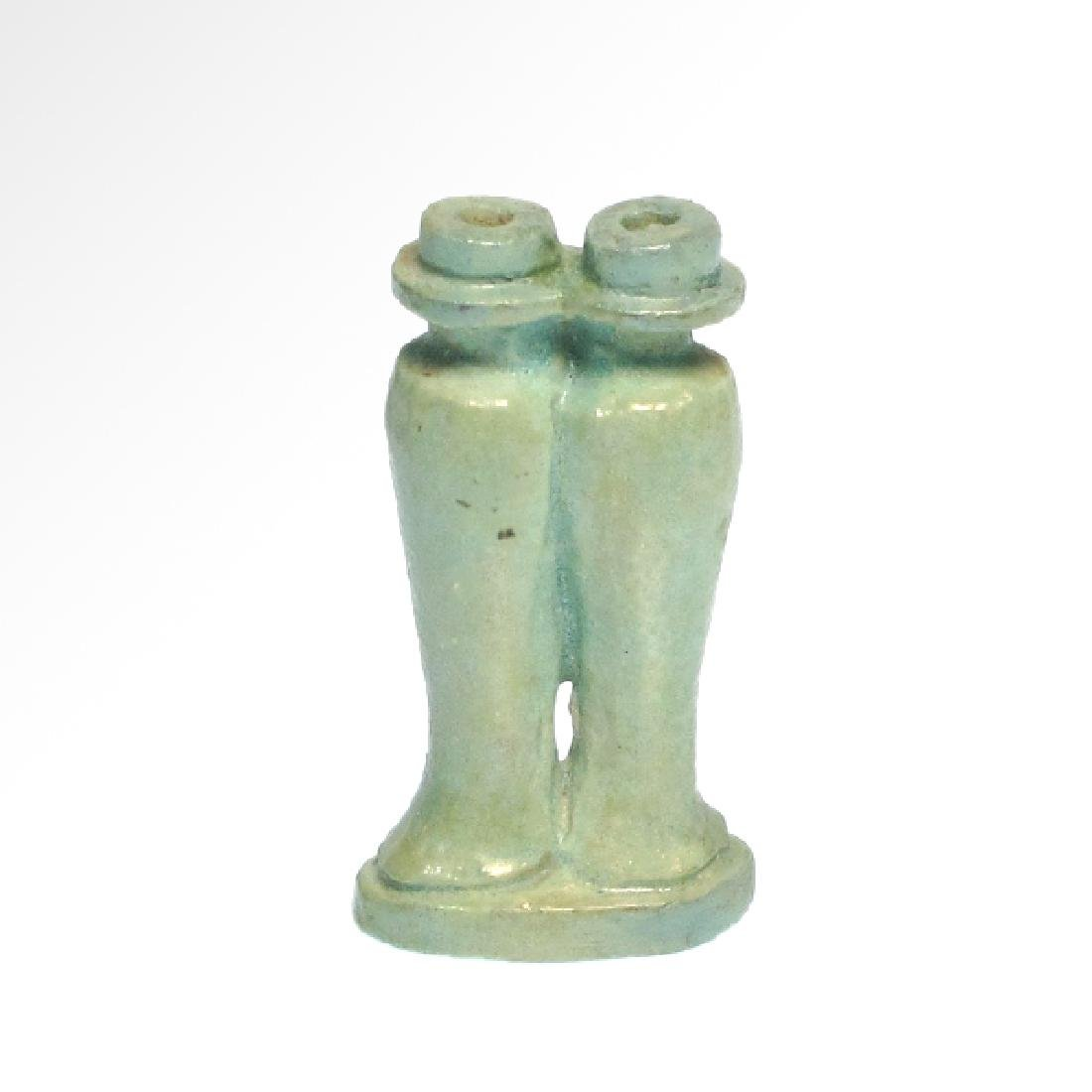 Small Egyptian Cosmetic Double Vessel, c. 600 B.C.