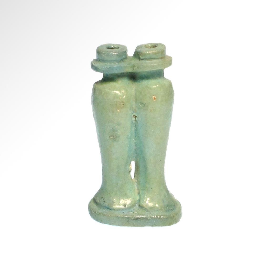 Small Egyptian Cosmetic Double Vessel, c. 600 B.C. - 3