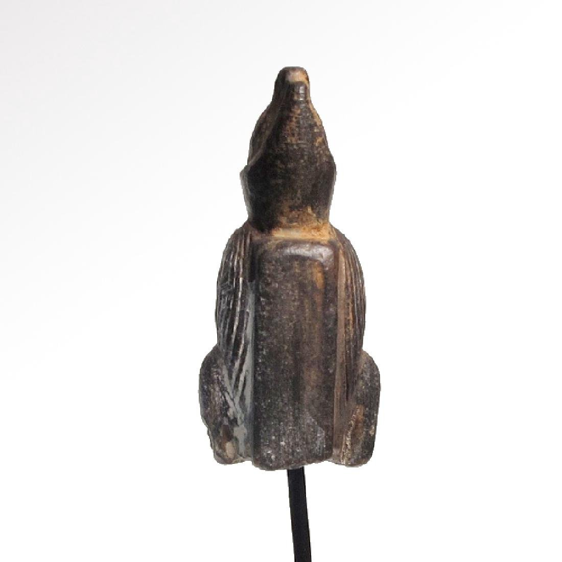 Egyptian Steatite Figure of Horus the Falcon - 5