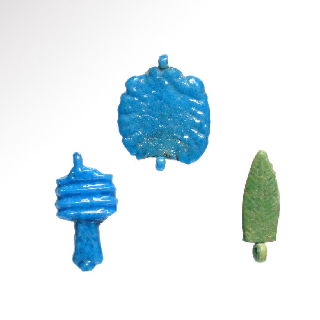 Three Egyptian Amarna Amulets, Reign of Akhenaten, c.