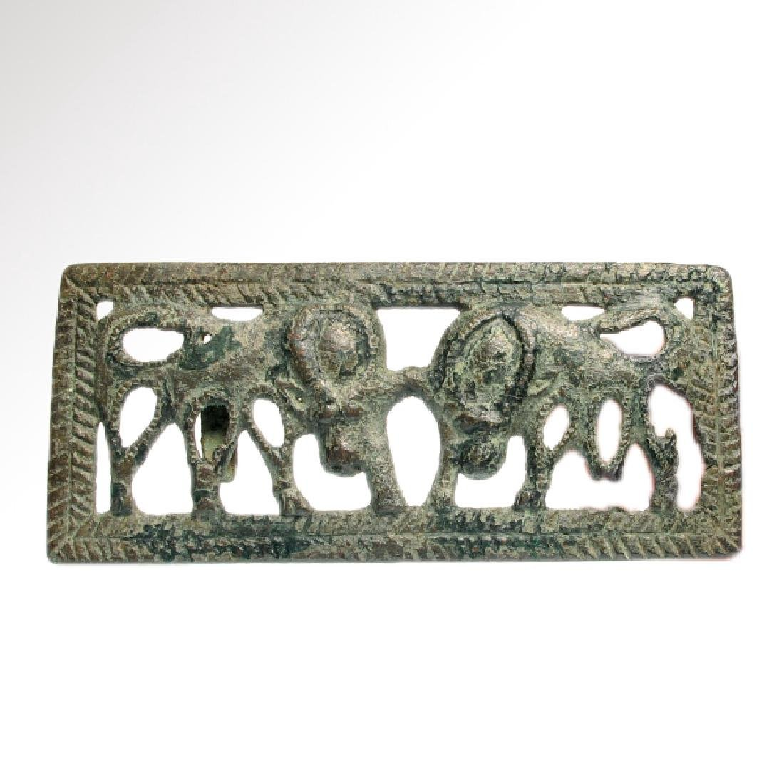 Ordos Open-Work Plaque with Grazing Bulls, c. 500 B.C.