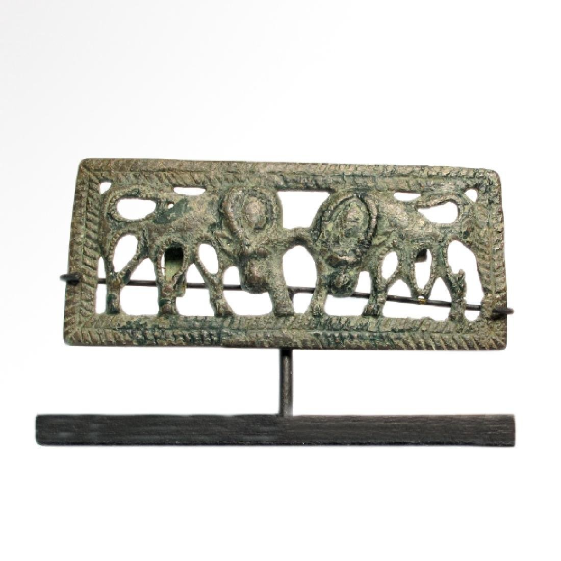 Ordos Open-Work Plaque with Grazing Bulls, c. 500 B.C. - 2