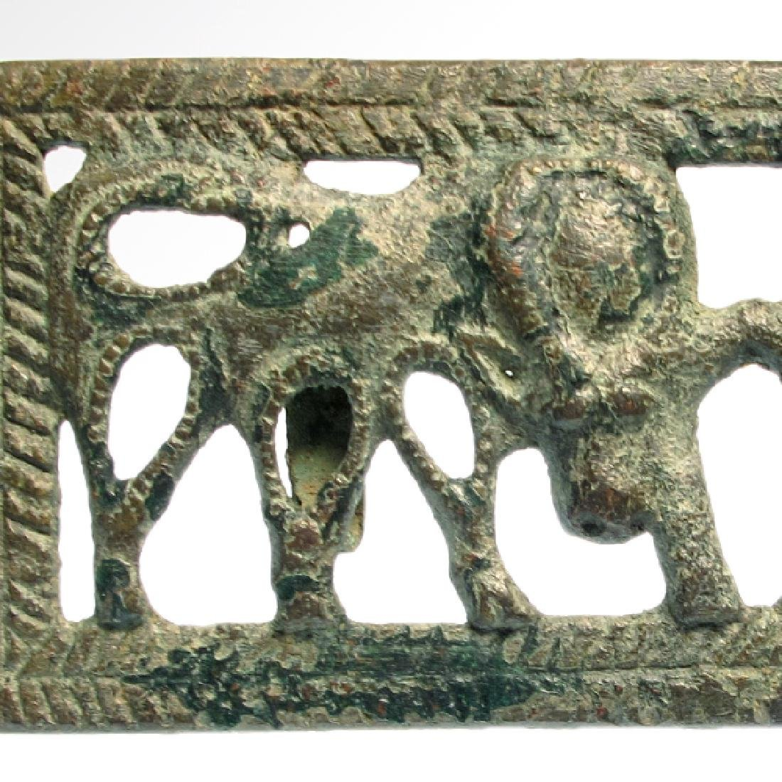 Ordos Open-Work Plaque with Grazing Bulls, c. 500 B.C. - 3