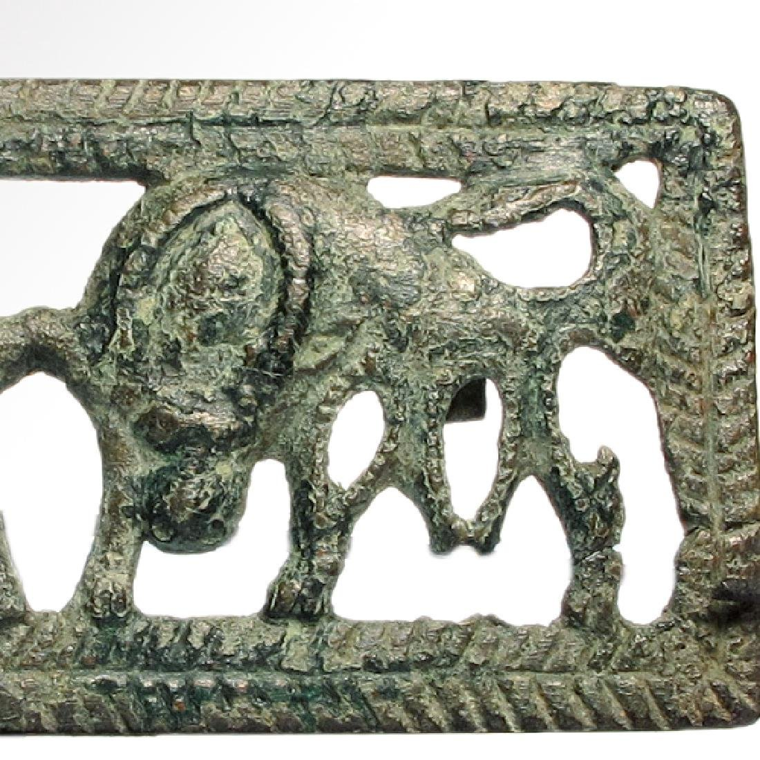 Ordos Open-Work Plaque with Grazing Bulls, c. 500 B.C. - 4