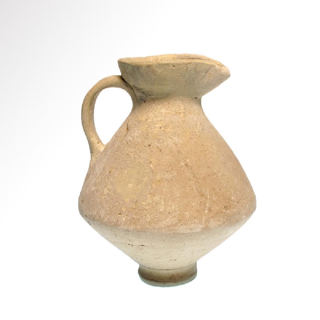 Roman Terracotta Jug, Trefoil lip, c. 1st Century A.D.