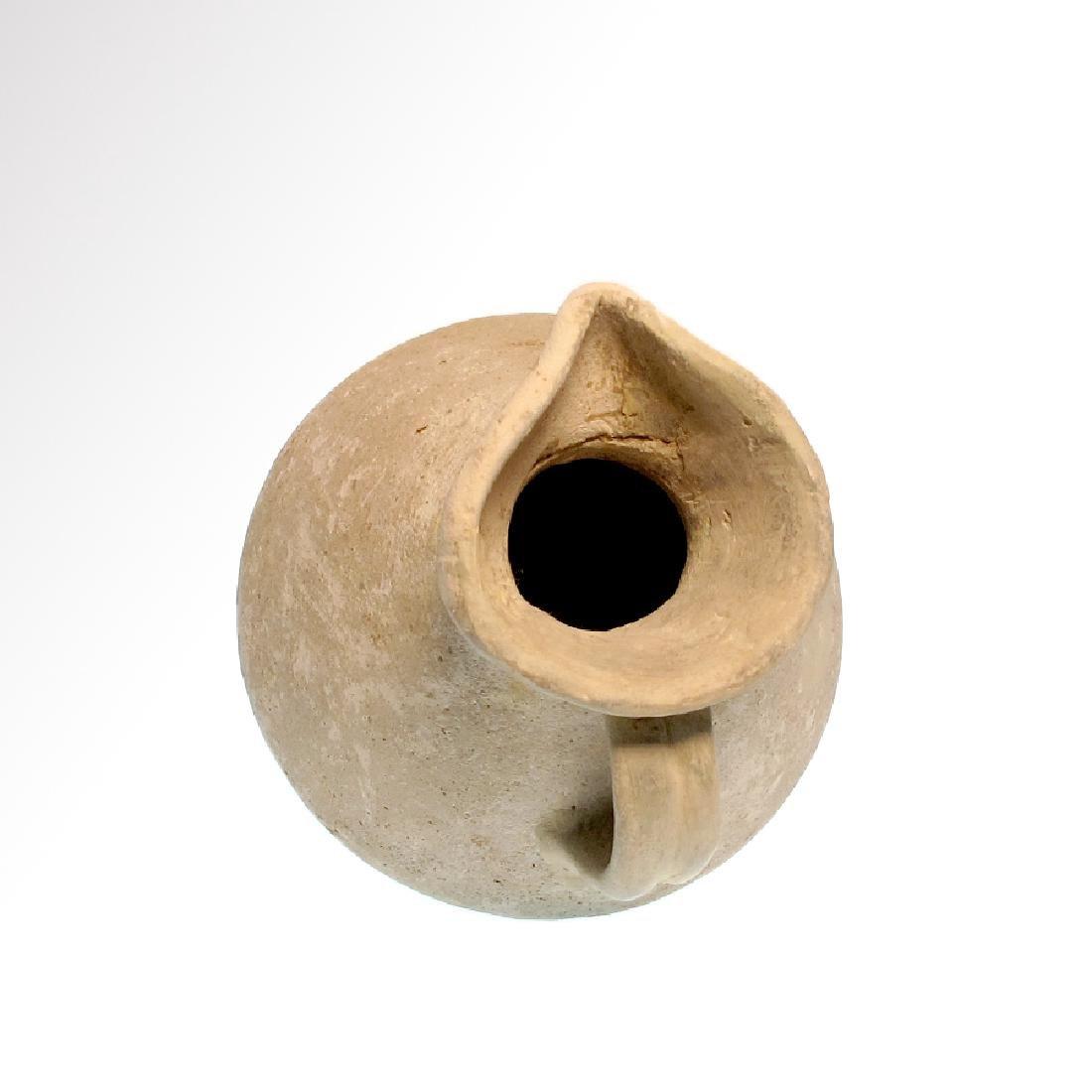 Roman Terracotta Jug, Trefoil lip, c. 1st Century A.D. - 5