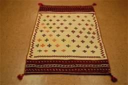 Fine Persian Shiraz Qashkai Sofreh Kilim Rug 3.3x5.2