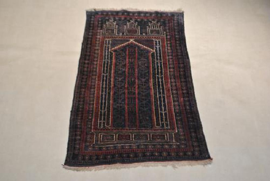 Handmade Persian Balouch Rug 2.11x4.9