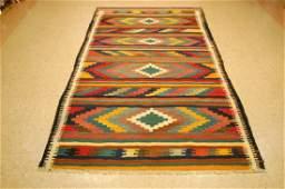 Caucasian Kilim Flat Woven Rug 4.10x9