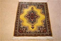 Silk Gold Persian Qome Rug 21x210