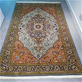 Qum Rug Hand Knotted Rug 6.8x4.5