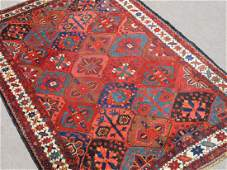 Hand Woven Semi Antique Persian Bakhtiari Rug 7x10