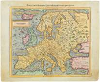 Munster: Antique Woodcut Map of Europe, 1588