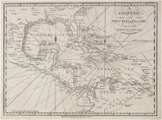 Malham: Antique Map of the West India Islands, 1797
