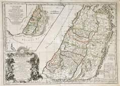 de Vaugondy: Antique Map of Land of the Hebrews, 1778
