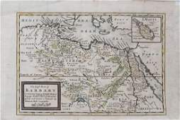 Moll: Antique Map of North Africa, 1714