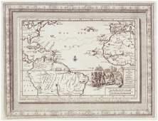 van der Aa: Antique Explorers Map of the Atlantic Ocean