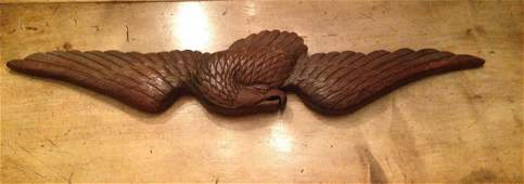 Early 20th Century Carved Walnut Eagle