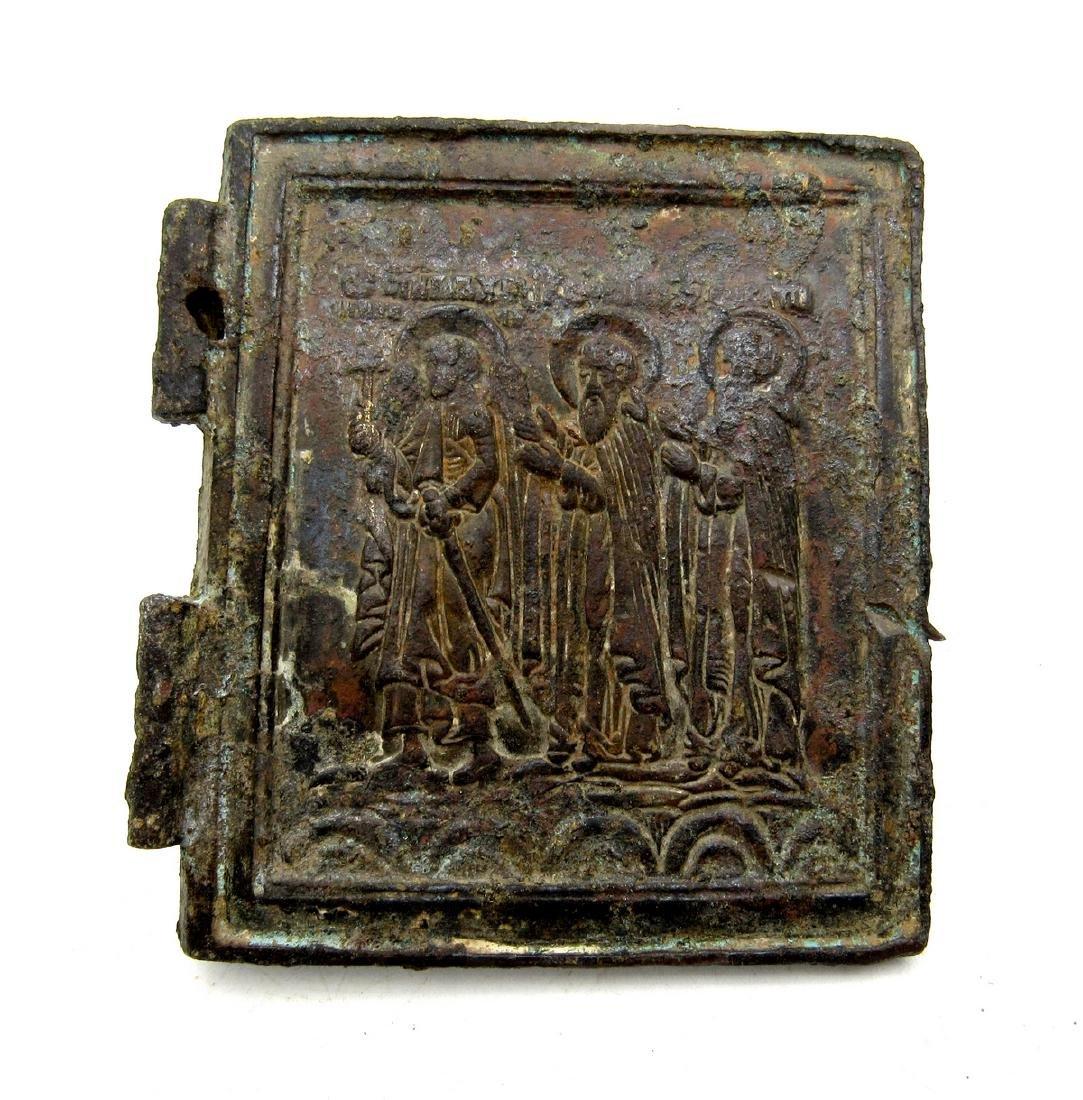 Late Medieval Icon Depicting Three Saints